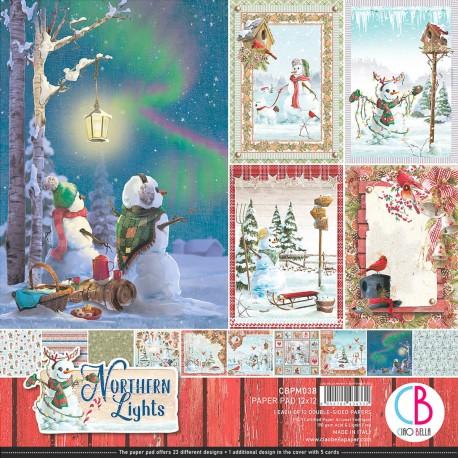 "Northern Lights Paper Pad 12""x12"" 12/Pkg"
