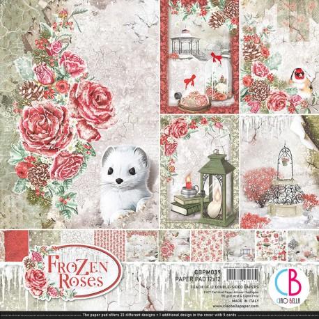 """Frozen Roses Paper Pad 12""""x12"""" 12/Pkg"""