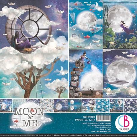 "Moon & Me Paper Pad 12""x12"" 12/Pkg"