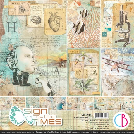 """Sign of the Times Paper Pad 12""""x12"""" 12/Pkg"""
