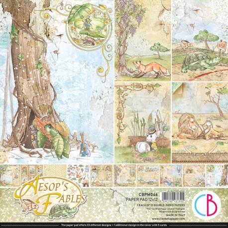 """Aesop's Fables Paper Pad 12""""x12"""" 12/Pkg"""