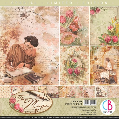 """The Muse Limited Edition Paper Pad 12""""x12"""" 12/Pkg"""