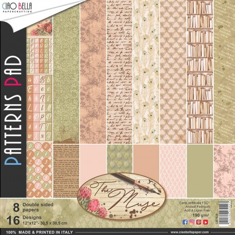 """The Muse Patterns Pad 12""""x12"""" 8/Pkg"""