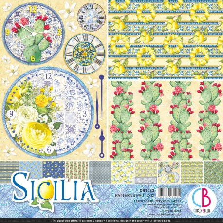 "Sicilia Patterns Pad 12""x12"" 8/Pkg"