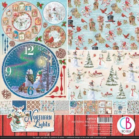 "Northern Lights Patterns Pad 12""x12"" 8/Pkg"