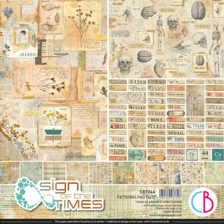"""Sign of the Times Patterns Pad 12""""x12"""" 8/Pkg"""