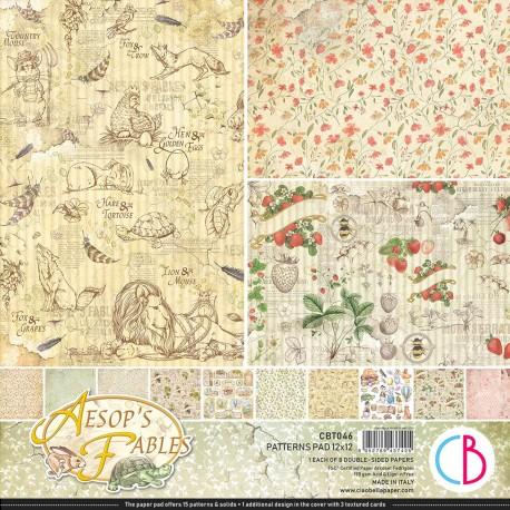 """Aesop's Fables Patterns Pad 12""""x12"""" 8/Pkg"""