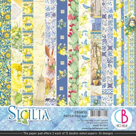 """Sicilia Paper Pad 6""""x6"""" 24/Pkg"""