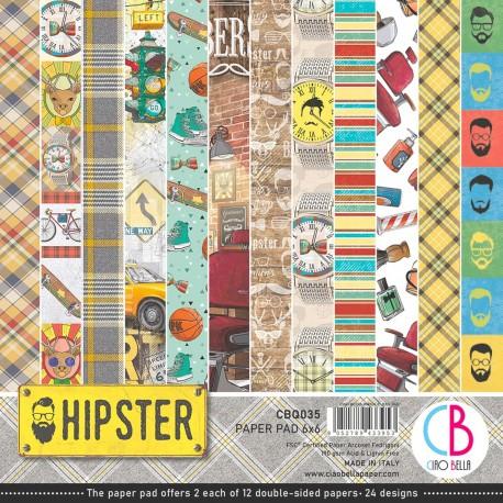 "Hipster Paper Pad 6""x6"" 24/Pkg"