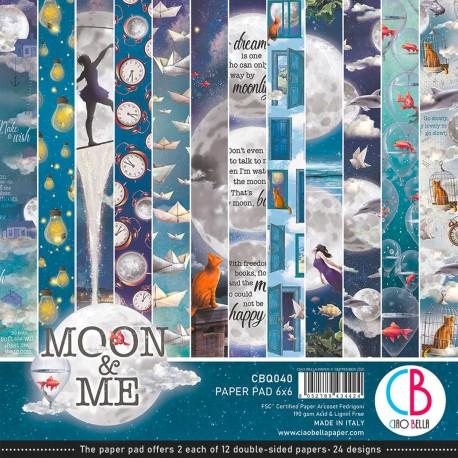 "Moon & Me Paper Pad 6""x6"" 24/Pkg"
