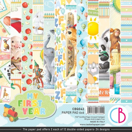 """My First Year Paper Pad 6""""x6"""" 24/Pkg"""