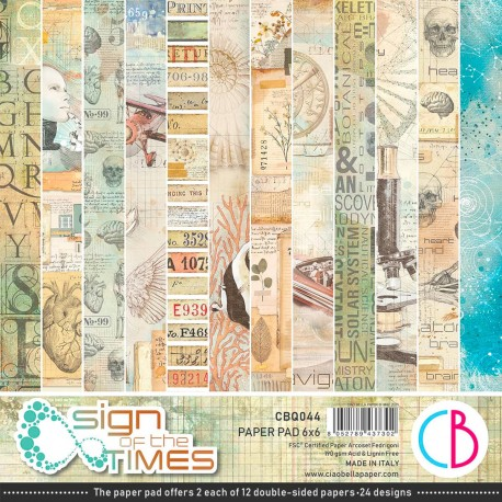 """Sign of the Times Paper Pad 6""""x6"""" 24/Pkg"""