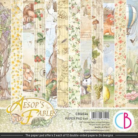 """Aesop's Fables Paper Pad 6""""x6"""" 24/Pkg"""