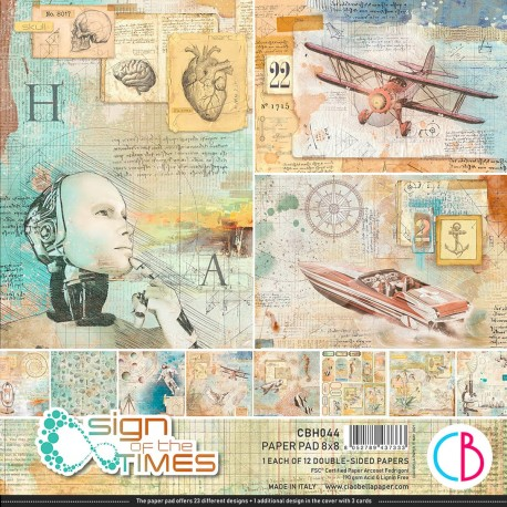 """Sign of the Times Paper Pad 8""""x8"""" 12/Pkg"""