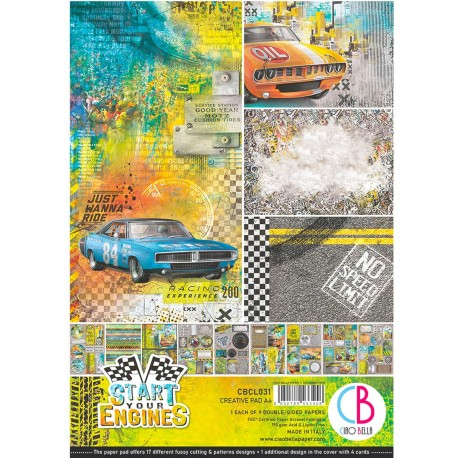 Start your Engines Creative Pad A4 9/Pkg