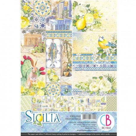 Sicilia Creative Pad A4 9/Pkg