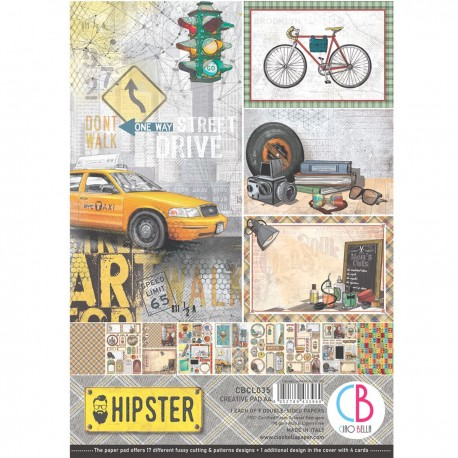 Hipster Creative Pad A4 9/Pkg