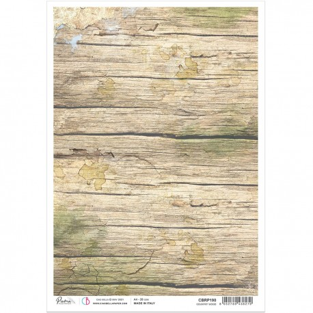Rice Paper A4 Country wood