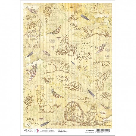 Rice Paper A4 Aesop's fables