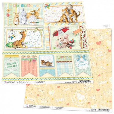 """My First Year Cards & Tags Paper Sheet 12""""x12"""""""