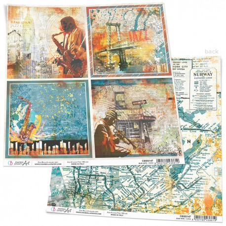 """Blue Note Cards Paper Sheet 12""""x12"""""""