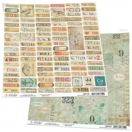 """Sign of the Times Labels Paper Sheet 12""""x12"""""""
