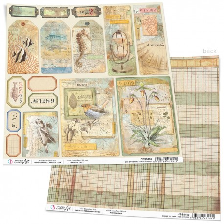 """Sign of the Times Tags & Frames Paper Sheet 12""""x12"""