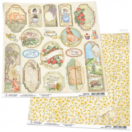 """Aesop's Fables Cards Paper Sheet 12""""x12"""""""