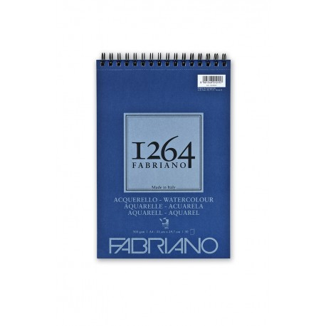 F-1264 Acuarela 25% algodón 300G A4, 30 h.-ESP