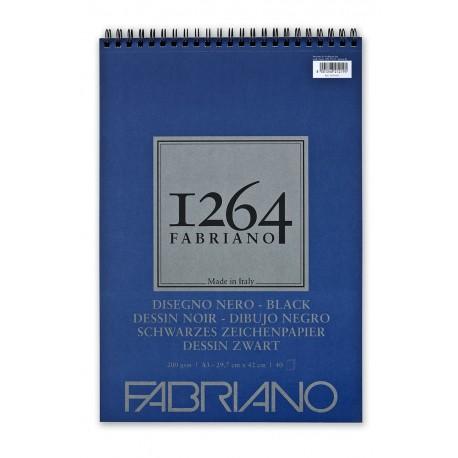 1264 Bloc Negro Dibujo A3 ESPIRAL