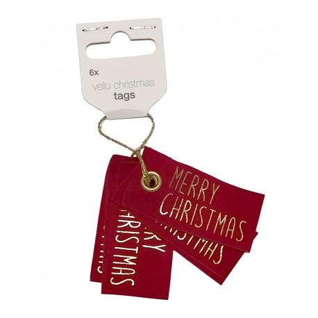 Etiquetas VELLU CHRISTMAS 6pcs