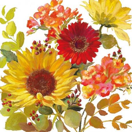 SERVILLETA NAPKIN 33 SUNNY FLOWERS