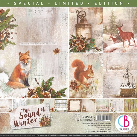 """The Sound of Winter Limited Edition Paper Pad 12""""x"""