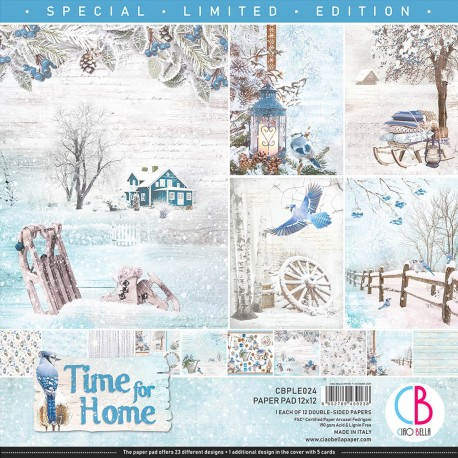 """Time for Home Limited Edition Paper Pad 12""""x12"""" 12"""