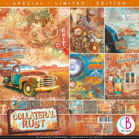 """Collateral Rust Limited Edition Paper Pad 12""""x12"""""""