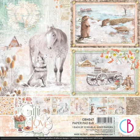 """The Gift of Love Paper Pad 8""""x8"""" 12/Pkg"""