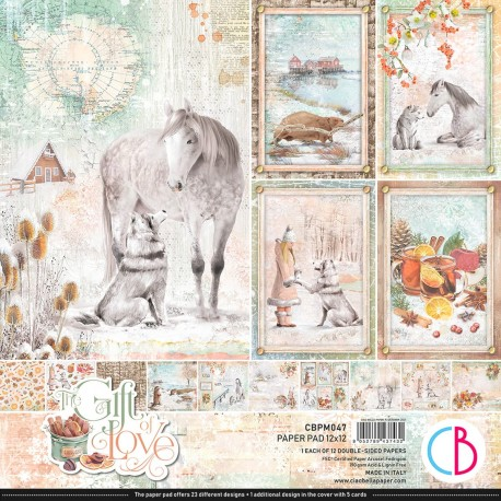 """The Gift of Love Paper Pad 12""""x12"""" 12/Pkg"""