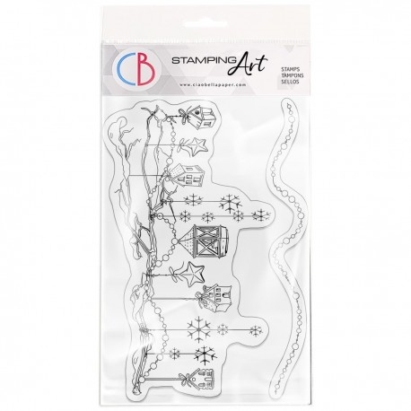 """Clear Stamp Set 4""""x6"""" Let's Decorate"""