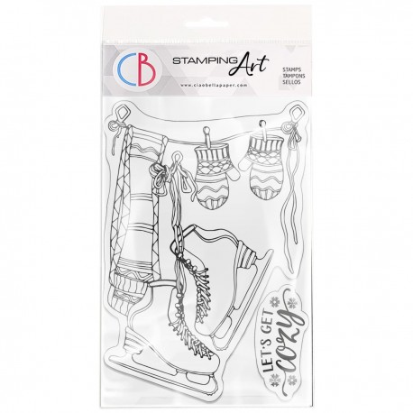 """Clear Stamp Set 4""""x6"""" Let's Get Cozy"""