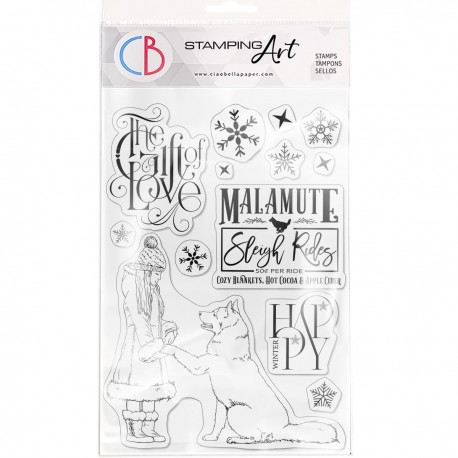 """Clear Stamp Set 6""""x8"""" The Gift of Love"""