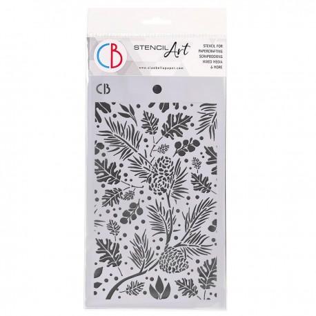 """Texture Stencil 5""""x8"""" Autumn Leaves"""