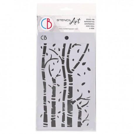 """Texture Stencil 5""""x8"""" Birch Trees"""