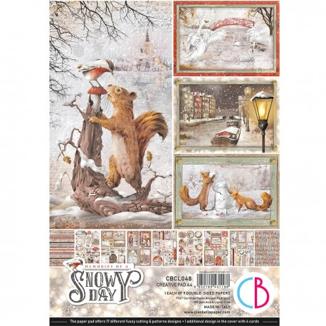 Memories of a Snowy Day Creative Pad A4 9/Pkg