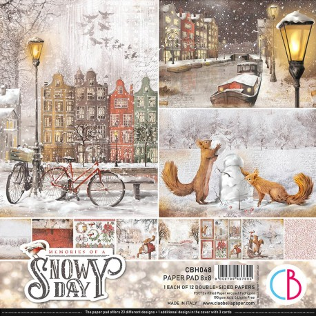 """Memories of a Snowy Day Paper Pad 8""""x8"""" 12/Pkg"""