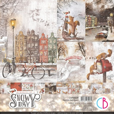 """Memories of a Snowy Day Paper Pad 12""""x12"""" 12/Pkg"""