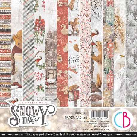 """Memories of a Snowy Day Paper Pad 6""""x6"""" 24/Pkg"""