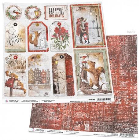 """Home for the Holidays Paper Sheet 12""""x12"""""""