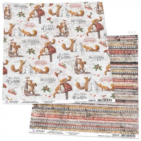 "Squirrels' Fun Paper Sheet 12""x12"""