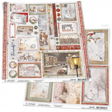 """Memories of a Swony Day Cards Paper Sheet 12""""x12"""""""