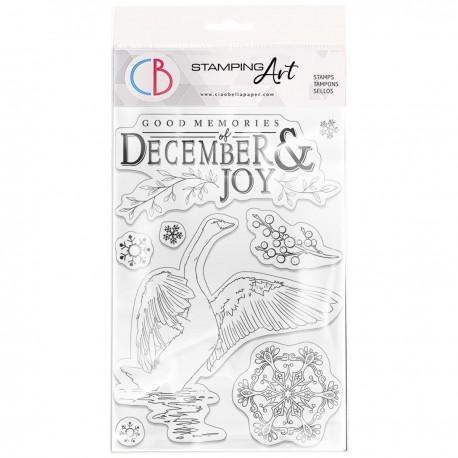 """Clear Stamp Set 4""""x6"""" December & Joy"""